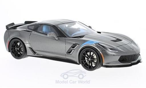 Chevrolet Corvette C7 1/18 GT Spirit Grand Sport metallise grey 2017 diecast model cars