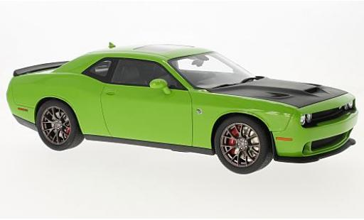Dodge Challenger 1/18 GT Spirit Hellcat SRT green/black 2016 diecast model cars