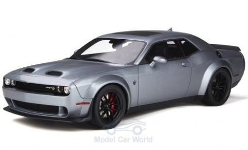 Dodge Challenger 1/18 GT Spirit SRT Hellcat Redeye grise 2018 miniature