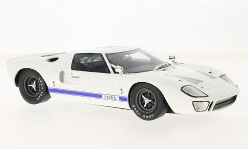 Ford GT40 1/18 GT Spirit GT 40 Mk I blanche/bleue RHD sans Vitrine miniature