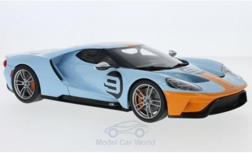 Ford GT 1/18 GT Spirit hellbleue/orange 2019 miniature
