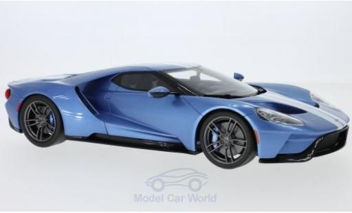 Ford GT 1/18 GT Spirit metallic-bleue/blanche 2017