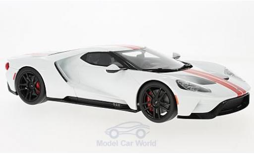 Ford GT 1/18 GT Spirit blanche/rouge 2017 miniature