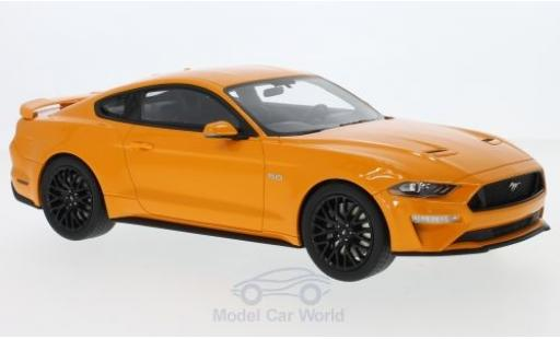 Ford Mustang 1/18 GT Spirit metallise orange 2019 miniature