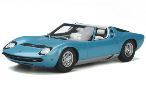 Lamborghini Miura 1/18 GT Spirit P400S Roadster bleue 1968 miniature