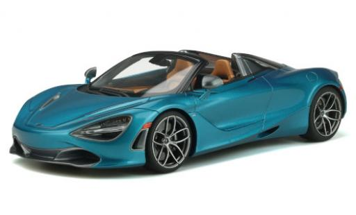 McLaren 720 1/18 GT Spirit S Spider metallise blue 2018 diecast model cars