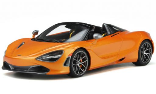 McLaren 720 1/18 GT Spirit S Spider metallise orange 2018 diecast model cars
