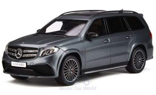 Mercedes Classe S 1/18 GT Spirit AMG GLS 63 metallise grey 2016 diecast model cars