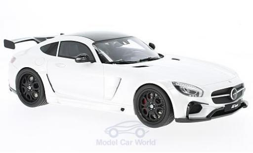 Mercedes AMG GT 1/18 GT Spirit FAB Design Areion metallise blanche/noire miniature