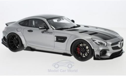 Mercedes AMG GT 1/18 GT Spirit Modified by Prior Design grise/noire 2015 miniature