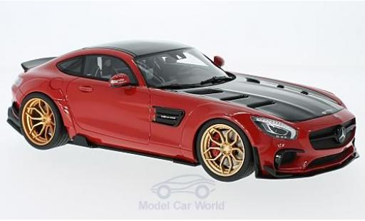 Mercedes AMG GT 1/18 GT Spirit Prior Design rouge/noire miniature