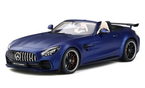 Mercedes AMG GT 1/18 GT Spirit -R Roadster matt-bleue miniature
