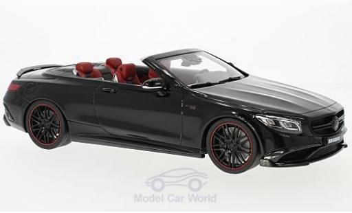 Mercedes CLA 1/18 GT Spirit Brabus 850 S Class Cabrio noire 2016 miniature