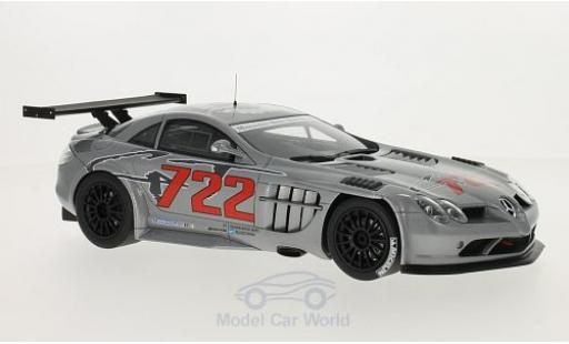 Mercedes SLR 1/18 GT Spirit McLaren 722 GT metallic-grigio/Dekor miniatura