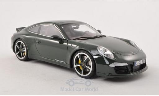 Porsche 991 SC 1/18 GT Spirit (991) Club Coupe dunkelgrün 2012 Türen und Hauben geschlossen miniatura