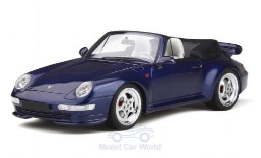 Porsche 993 Turbo 1/18 GT Spirit 911  Cabriolet metallise bleue miniature