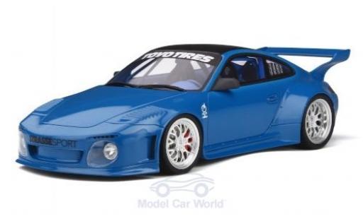 Porsche 911 1/18 GT Spirit (997) Slant Nose Old & New Body Kit blu 2016 miniatura
