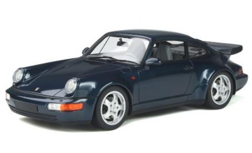Porsche 964 Turbo 1/18 GT Spirit 911 3.3  bleue 1991 miniature
