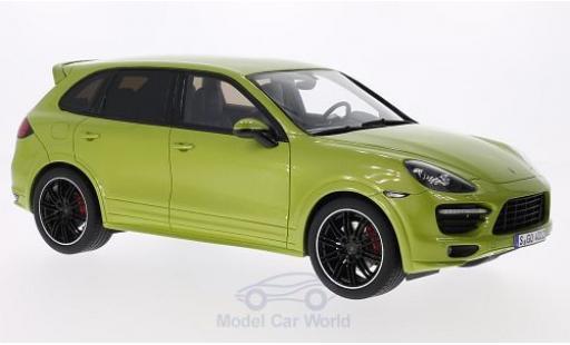 Porsche Cayenne S 1/18 GT Spirit (92A) metallic-hellgrün 2013 Türen und Hauben geschlossen miniature