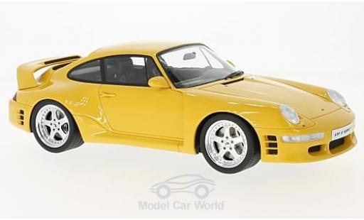 Ruf CTR 2 1/18 GT Spirit Porsche 2 Sport amarillo 1997 miniatura