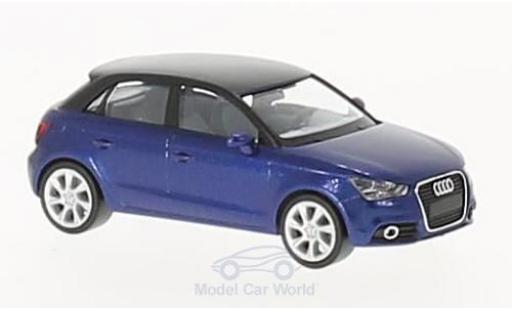 Audi A1 1/87 Herpa Sportback metallise bleue/noire