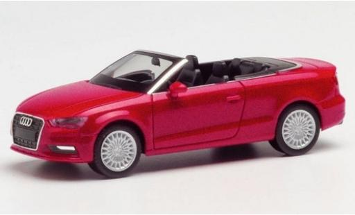 Audi A3 1/87 Herpa Cabriolet metallise rouge miniature