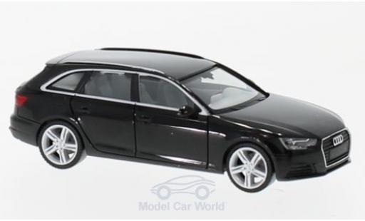Audi A4 Avant 1/87 Herpa (B9) noire miniature