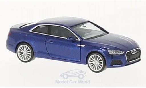 Audi A5 1/87 Herpa Coupe metallic-bleue miniature