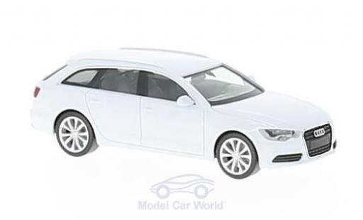Audi A6 1/87 Herpa Avant metallic white diecast