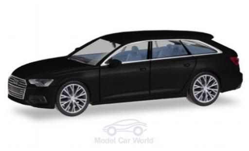 Audi A6 1/87 Herpa Avant noire mit zweifarbigen Felgen