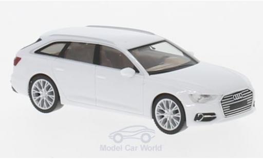 Audi A6 1/87 Herpa Avant blanche miniature