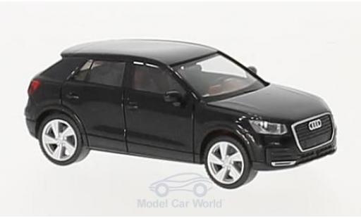 Audi Q2 1/87 Herpa metallise noire miniature