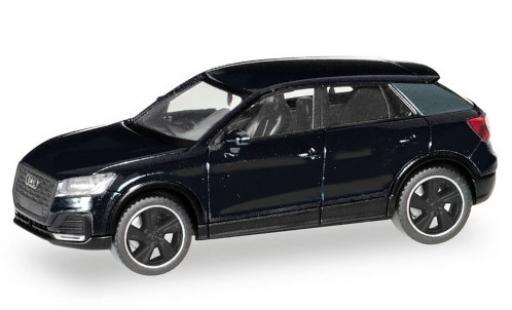 Audi Q2 1/87 Herpa black Black Edition diecast model cars