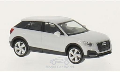 Audi Q2 1/87 Herpa blanche miniature