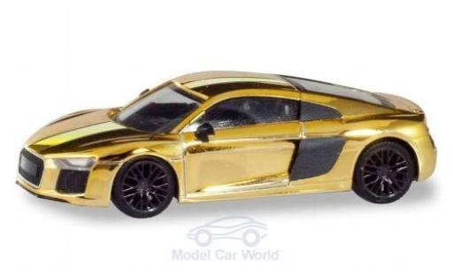 Audi R8 1/87 Herpa V10 Plus gold Felgen: black diecast model cars