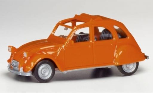 Citroen 2CV 1/87 Herpa 2 CV orange modellino in miniatura