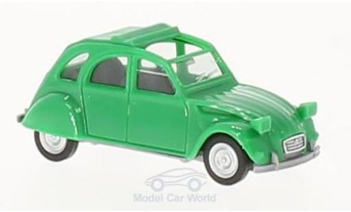 Citroen 2CV 1/87 Herpa 2 CV green offen diecast model cars