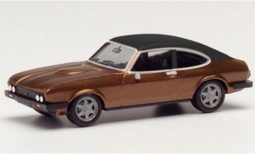Ford Capri 1/87 Herpa MK II metallise marron/matt-noire miniature