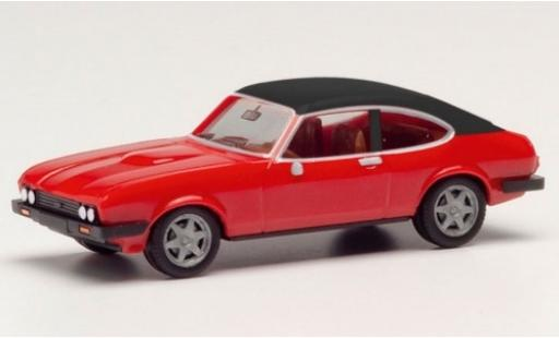 Ford Capri 1/87 Herpa MK II rouge/matt-noire miniature