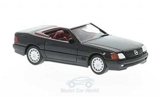 Mercedes 500 SL 1/87 Herpa (R129) metallise noire miniature