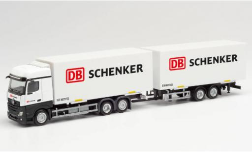 Mercedes Actros 1/87 Herpa Bigspace DB Schenker Wechselkoffer-camion avec remorque