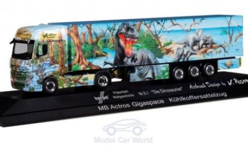 Mercedes Actros 1/87 Herpa Gigaspace Herpa Weltgeschichte Nr.5.1 - Die Dinosaurier Kühlkoffer-Sattelzug miniature
