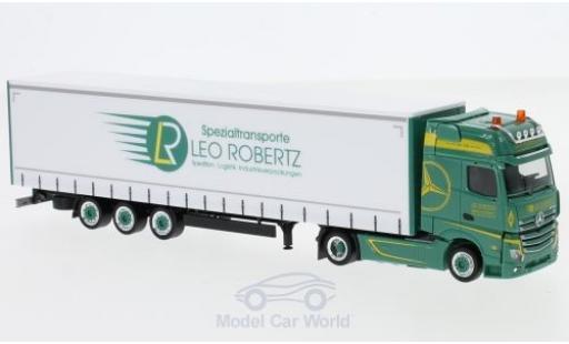 Mercedes Actros 1/87 Herpa Gigaspace Leo Robertz Lowliner-Sattelzug miniature