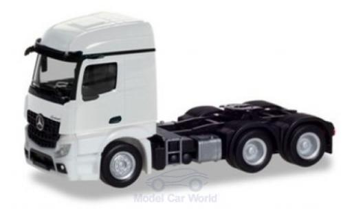 Mercedes Actros 1/87 Herpa Streamspace 2.3 white 2018 3-achs Zugmaschine diecast model cars