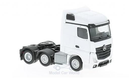 Mercedes Actros 1/87 Herpa Streamspace 6x2 blanche 2011 Zugmaschine miniature