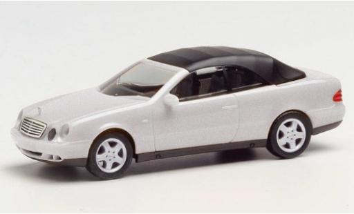 Mercedes CLK 1/87 Herpa (A208) Cabriolet grise Softtop détachable miniature