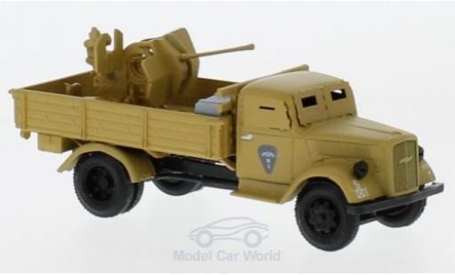 Opel Blitz 1/87 Herpa Minitanks hellmarron gepanzert mit 20mm Kanone miniature