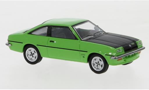 Opel Manta 1/87 Herpa B GT/E verte/noire miniature