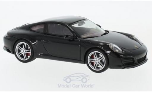 Porsche 991 SC 1/43 Herpa 911 (/2) Carrera black diecast model cars