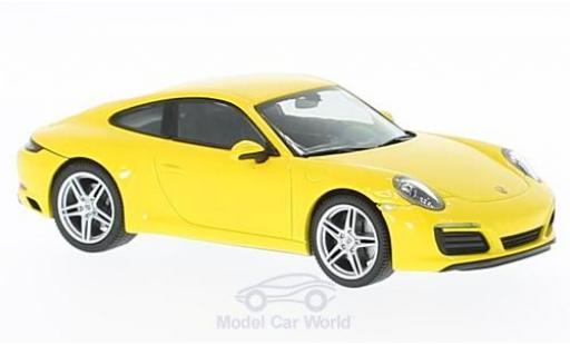 Porsche 991 SC 1/43 Herpa (991) Carrera 4 Coupe jaune miniature